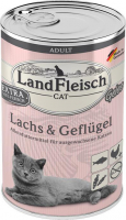 Landfleisch Cat Adult Gelee with Salmon & Poultry  400 g