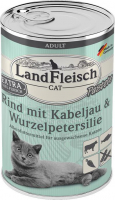 Landfleisch Cat Adult Pate with Beef, Cod and Parsley Root  400 g  - Kattmat på burk