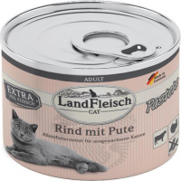 Cat Adult Pate with Beef and Turkey  195 g från Landfleisch