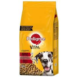 Pedigree Large Dog Dry Complete With Beef  7.5 kg, 15 kg
