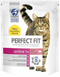 Perfect Fit Active 1 + Rich in Beef 750 g, 1.4 kg