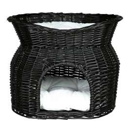 Trixie Wicker Cave with Bed and Cushions on Top Svart 54x43x37 cm