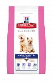 Hill's Science Plan Canine - Mature Adult 7+ Small & Miniature med Kyckling  300 g, 3 kg, 1.5 kg