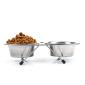 Dobbelt foderskål og skålestativ køb det online hos PetsExpert