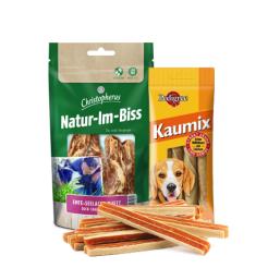 Kaustreifen und Fleischstreifen Qualitätsprodukte zum guten Preis für Hund