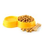Dobbelt Plastikskåle bestil billigt til din Hund online