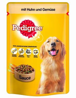 Pedigree Pouches with Chicken and Vegetables in sauce  100 g