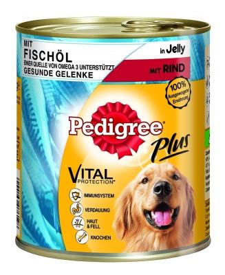 Pedigree Adult Plus cu Ulei de Pește și Carne de Vită în Jeleu  800 g, 400 g