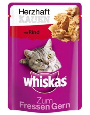 Whiskas Zum Fressen Gern Herzhaft Kauen mit Rind 28x85 g