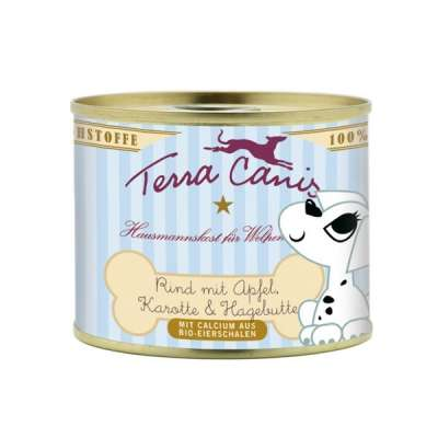 Terra Canis Puppy Menu, Beef with Apple, Carrot & Rose Hip Oksekød & Æble 200 g