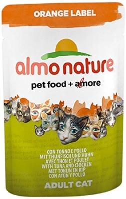 Almo Nature Orange Label Wet mit Thunfisch und Huhn 70 g