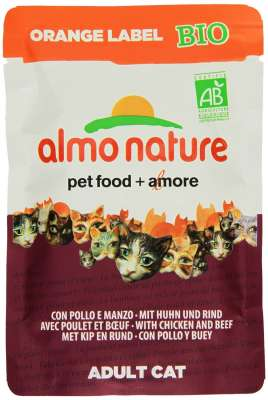 Almo Nature Orange Label BIO Wet mit Rind und Huhn 70 g