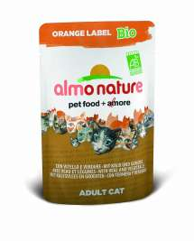 Orange Label BIO Wet mit Kalb und Gemüse Almo Nature  8001154122558