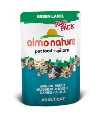 Almo Nature Green Label Raw Pack Wet Makrele 55 g