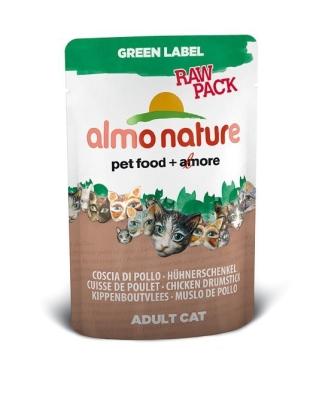 Almo Nature Green Label Raw Pack Wet Hühnerschenkel 55 g