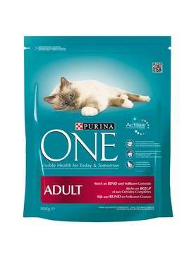 Purina ONE Adult reich an Rind 8x800 g