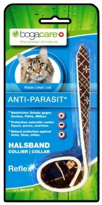 Bogacare Bogacare Colar Anti-Parasit para gatos, preto reflexivo