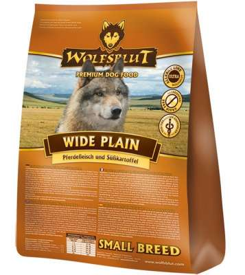 Wolfsblut Wide Plain Small Breed Carne de Cal și Cartofi Dulci  7.50 kg, 500 g, 2 kg, 15 kg