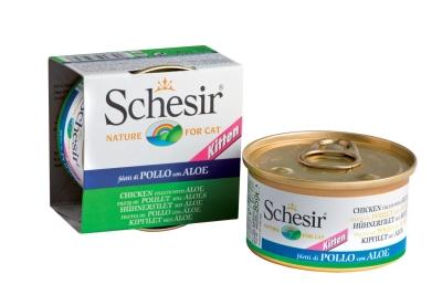 Schesir Conservă pentru pisici, File de pui cu Aloe 85 g, 140 g