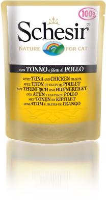Schesir Pouch - tonnikala & kanafile 100 g, 50 g