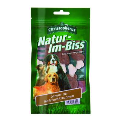 Christopherus Natur-im-Biss – Lamb on Calcium Bone 70 g Bárányhús