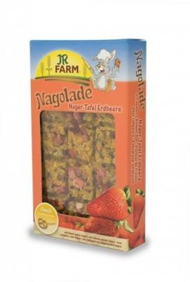 JR Farm Nagolade Nager-Tafel Erdbeere  125 g