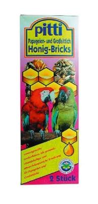 Pitti Honig-Bricks für Papageien und Großsittiche  2Stück