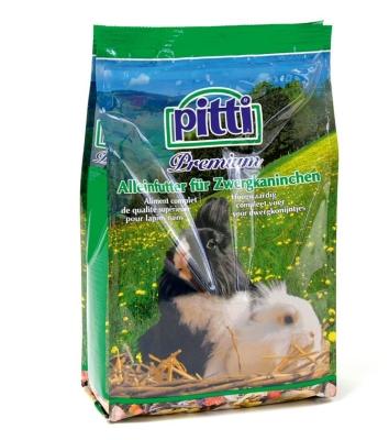 Pitti Premium Alleinfutter für Zwergkaninchen  600 g