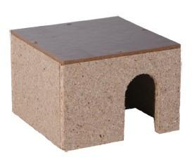 Degro Hamsterschlafhäuschen aus Holz 9x12x12 cm