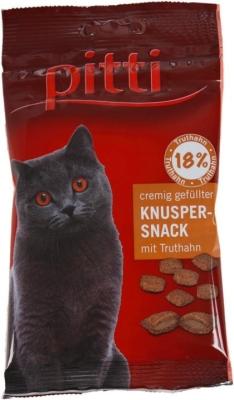 Pitti Cremig gefüllter Knusper Snack mit Truthahn Pute 50 g