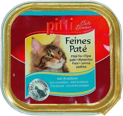 Pitti Cats Dinner Feines Paté mit Krabben 100 g