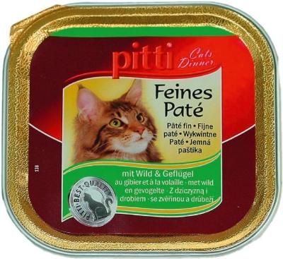 Pitti Cats Dinner Feines Paté mit Wild & Geflügel 100 g