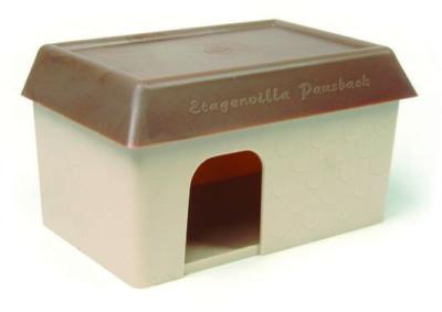 Pitti Heuser Hamsterhaus Plastik braun-beige Beige