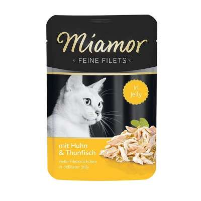 Miamor Sachet Filets fins Poulet & Thon 100 g