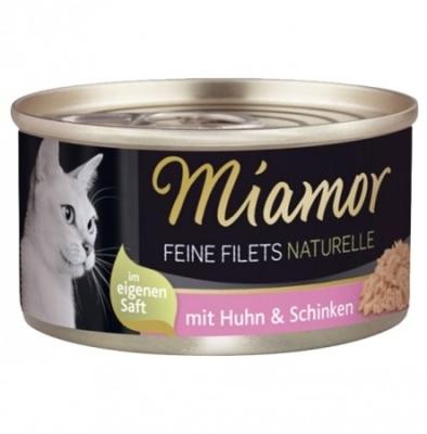 Miamor Feine Filets Naturelle im eigenen Saft Huhn & Schinken 80 g, 156 g