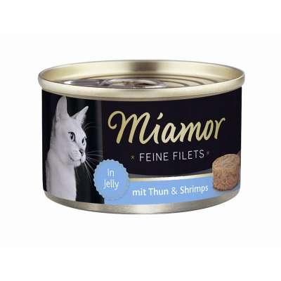 Miamor Feine Filets Dose heller Thunfisch & Shrimps 100 g, 185 g