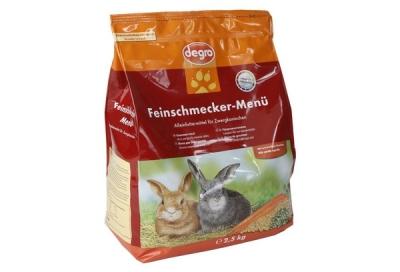 Degro Feinschmecker-Menü für Zwergkaninchen  2.5 kg, 1 kg
