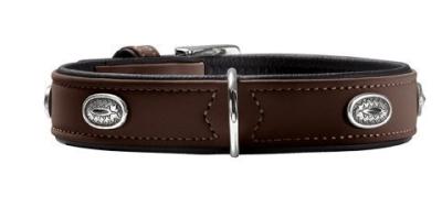 Hunter Collar Softie Stone Tumman ruskea 36-44x2.8 cm