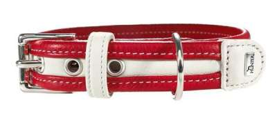 Hunter Collar Madeira Red / White Rød 25-35x2.8 cm