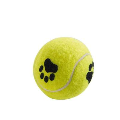 Hunter Dog toy, Tennis ball with Paw Prints 6 cm Keltainen