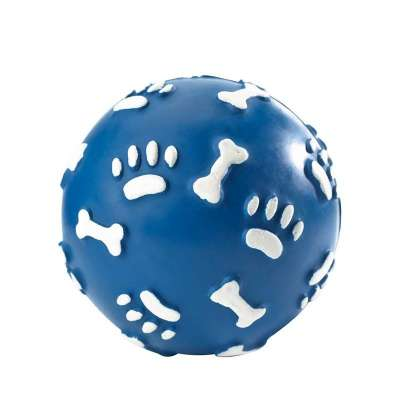 Hunter Dog Toy Rubber Ball with Paws, ø 7cm Blå S