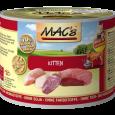 MAC's Kitten - Turkey, Beef & Duck Canned 200 g - Food for kittens