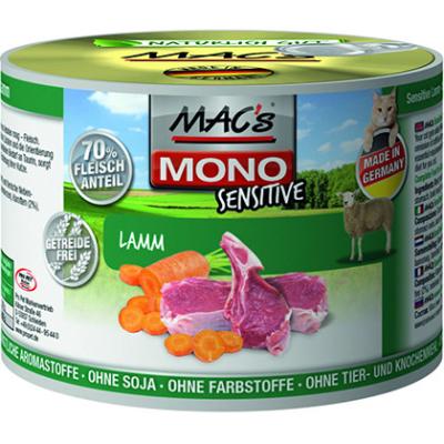 MAC's Mono Sensitive Agnello 800 g, 400 g, 200 g