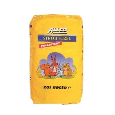 ALLCO Strohstreu - Pellets 8 mm 20 l