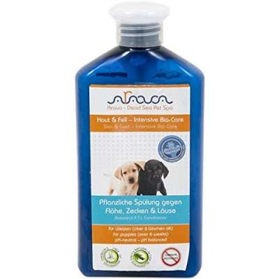 Arava Lavado Perros-Cachorro contra Pulgas, Garrapatas y Piojos 400 ml