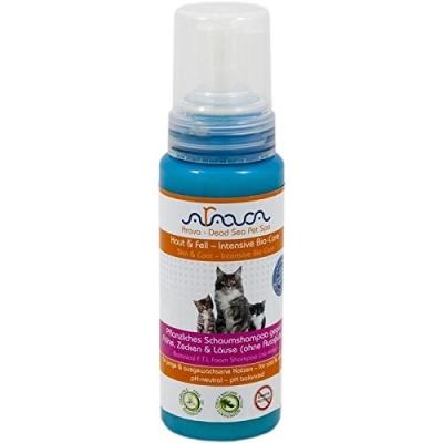 Arava Katzen Shampoo gegen Flöhe, Zecken & Läuse 250 ml