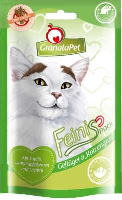 GranataPet FeiniSnack Geflügel & Katzengras Geflügel & Gras 50 g