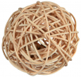 Trixie Wicker Ball with Bell  Beige