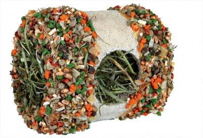 Trixie Luffa-Tunnel mit Bergwiesenheu und Gemüse 80 g
