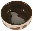 Trixie Ceramic Bowl with Motive, Guinea pigs